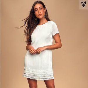 NWT white short sleeve dress from Lulus.